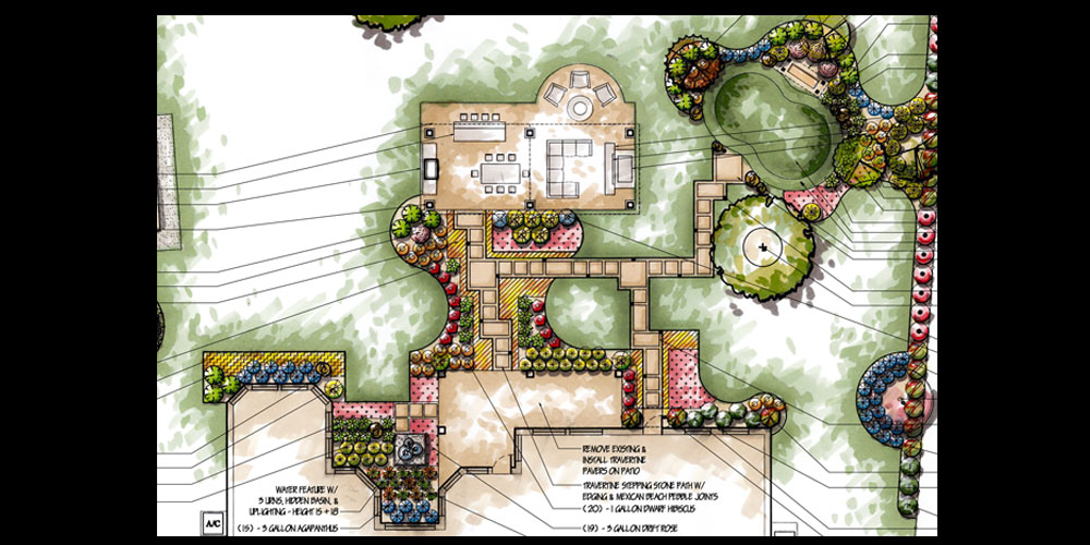 Residential and commercial landscape plans hdg landscape for Commercial landscape design